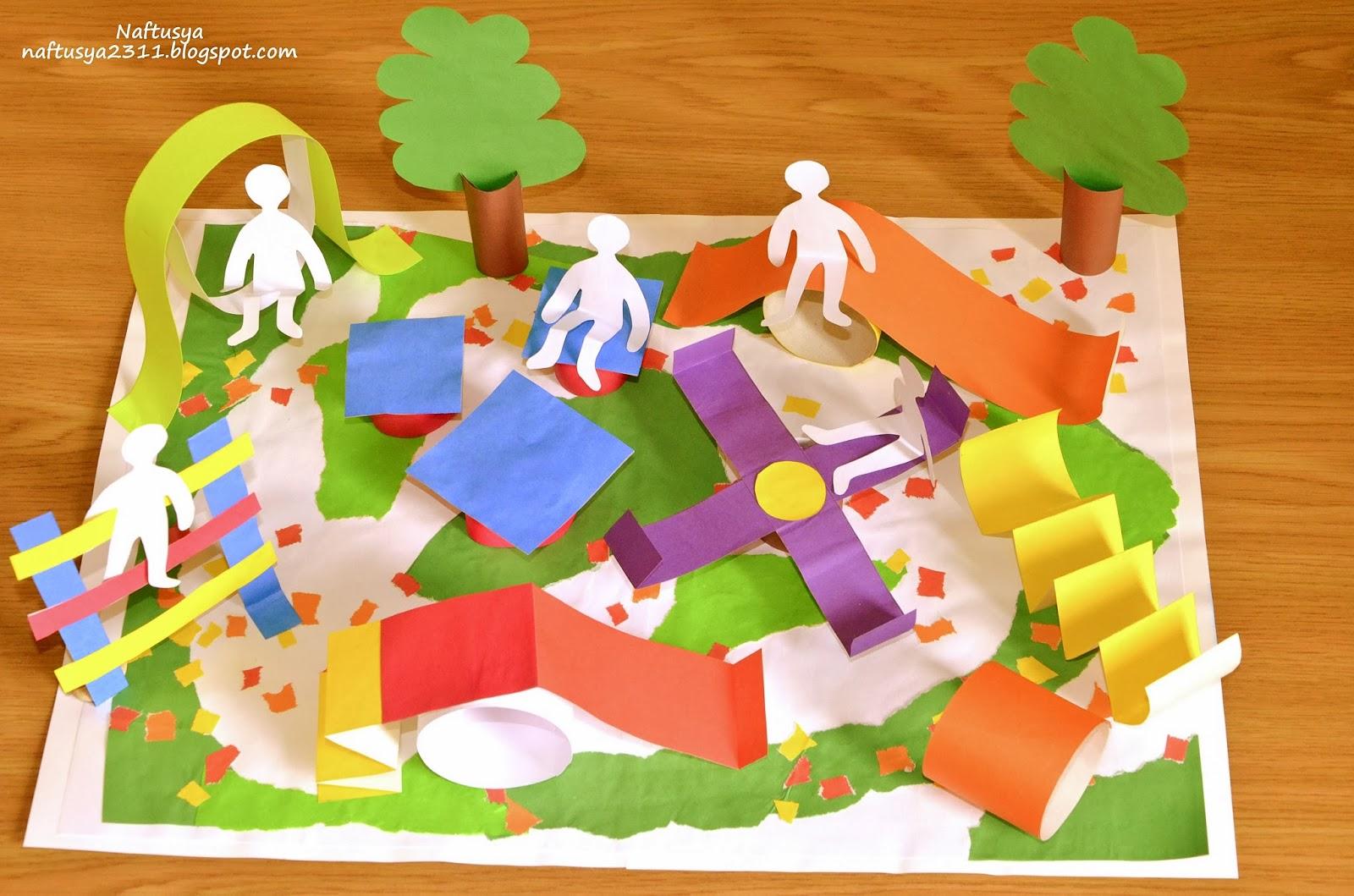 Поделки макет городского парка