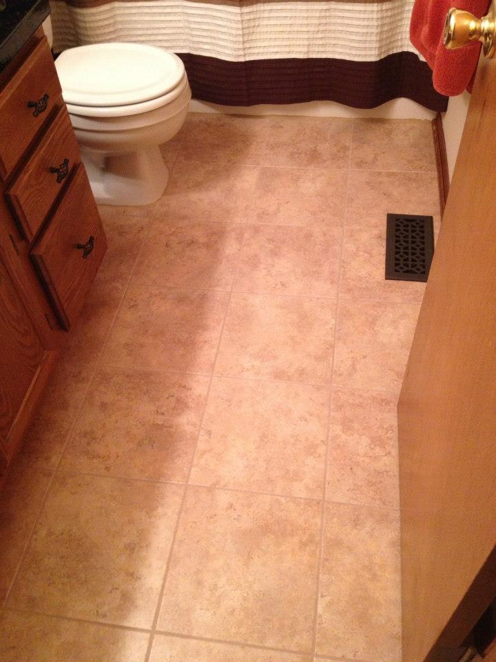 handy in ks: installing luxury vinyl tile with grout