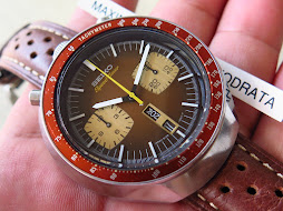 SEIKO CHRONOGRAPH SPEEDTIMER BROWN BULLHEAD - AUTOMATIC 6138 0040