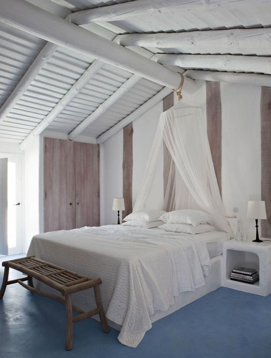 Neo rustic bedroom | Casa Do Barco designed by Vera Iachia