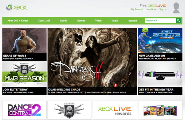xbox best Metro UI website