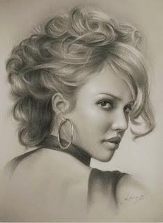 Dibujos a Lapiz Chicas de Hollywood