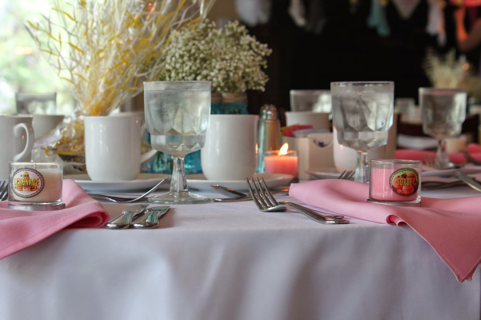 pale pink bridal shower