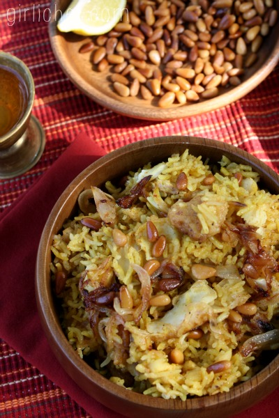 Sayadieh Bil Samek (Fish Pilaf w/ Caramelized Onions) - a guest post from www.girlichef.com | www.marocmama.com
