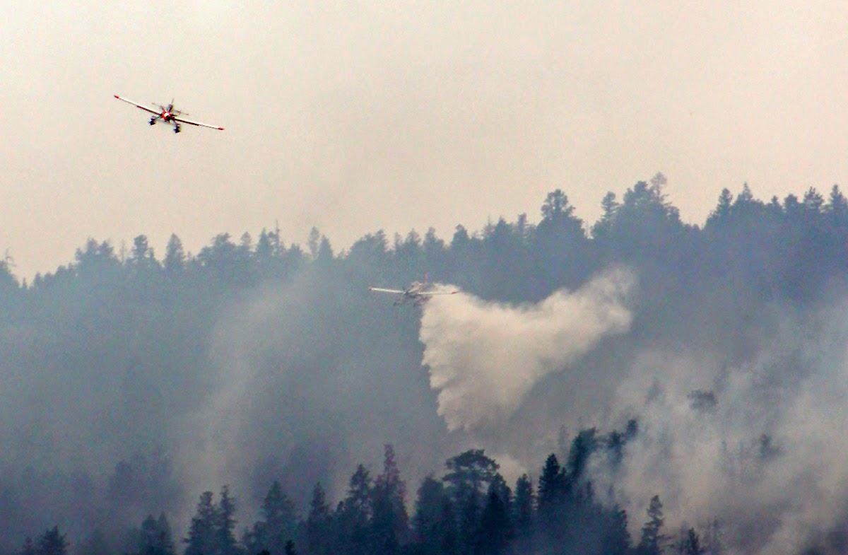 Air Tractors fighting a fire.