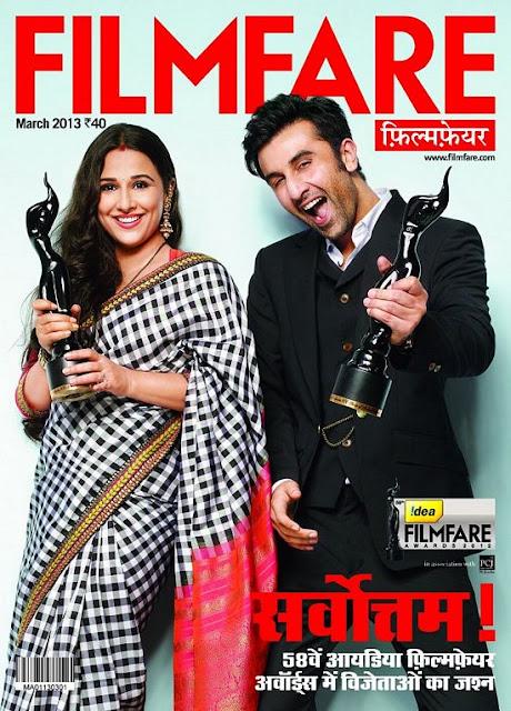 Vidya Balan Filmfare Magazine
