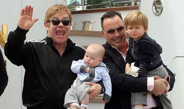 Elton and family
