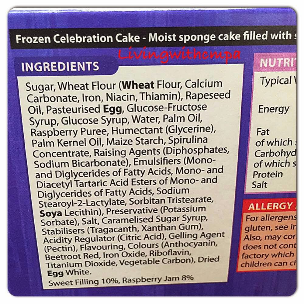 Dairy Free Shop Brought Birthday Cakes, Living with cow's milk protein allergy