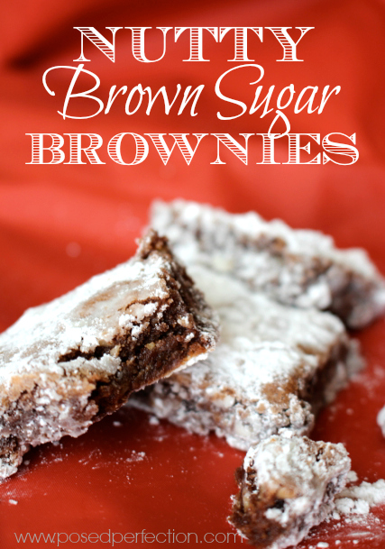 These Nutty Brown Sugar Brownies are fudgy and delicious with just the right balance of sweet and salty... the perfect treat for dessert and potlucks!