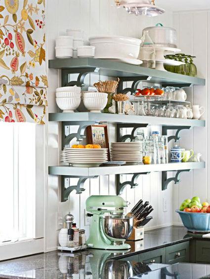El orden es la clave estanter as abiertas en la cocina - Estanterias para cocinas ...