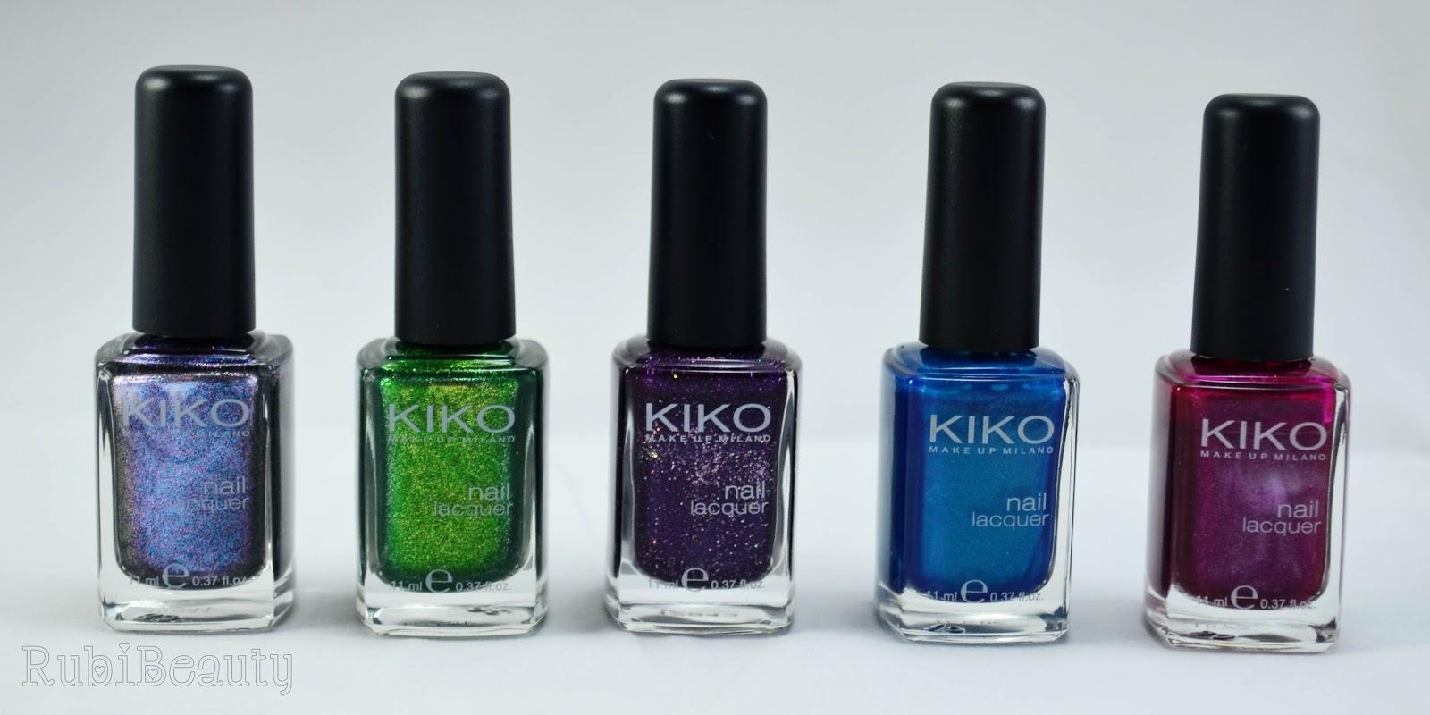rubibeauty colección esmaltes kiko clones swatches