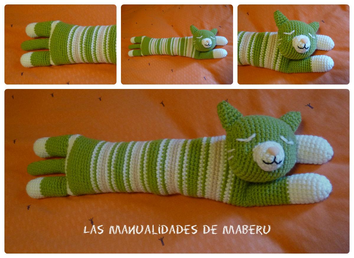 Las Fofuchas de Maberu: Muñeco amigurumi - gatito dormilón