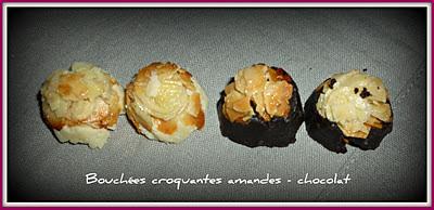 image Bouchées croquantes amandes chocolat