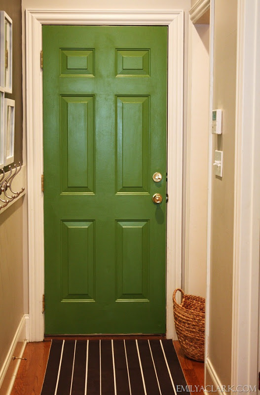Sure fit slipcovers decorating with emerald green for Paint for doors interior
