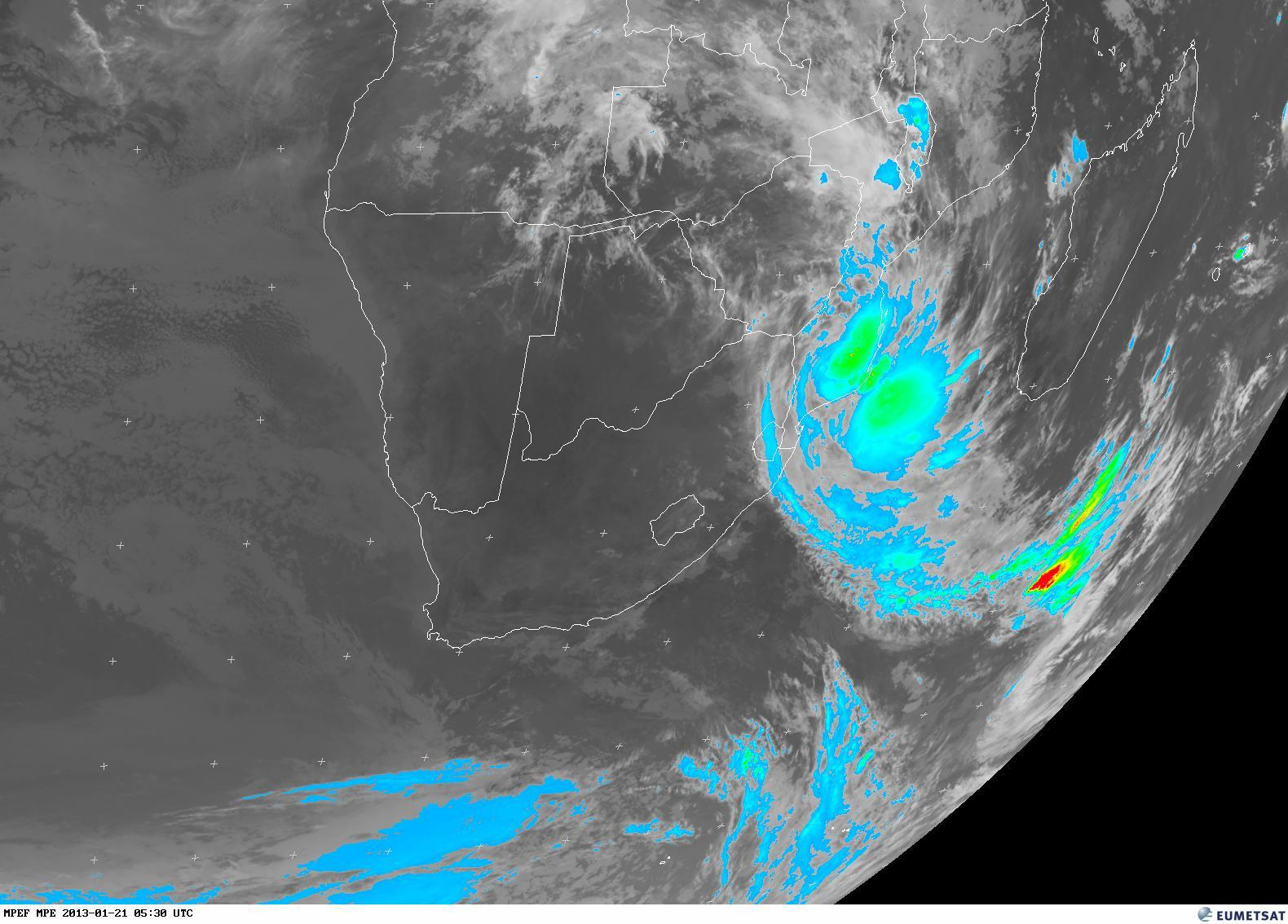 SA Weather And Disaster Observation Service UPDATE Satellite - World satellite view of weather
