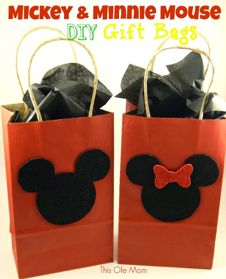 Mickey Mouse Gift Bags, Mickey Mouse Favor Bags, Minnie Mouse Gift Bags, Minnie Mouse Party Favor Bags , DIY Mickey Mouse Party Ideas, Minnie Mouse Party Ideas
