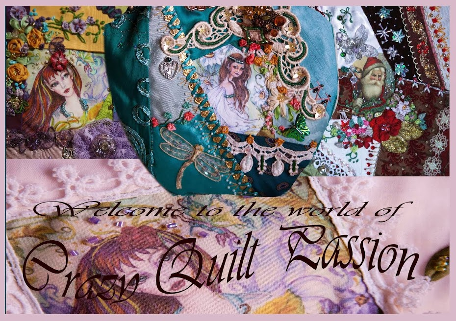 Crazy Quilt Passion: Alice in Wonderland, A Dragon Fly and Cowboys ... : crazy quilt dragon - Adamdwight.com