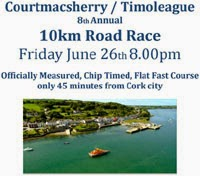 Flat fast 10k in W Cork...Fri 26th June