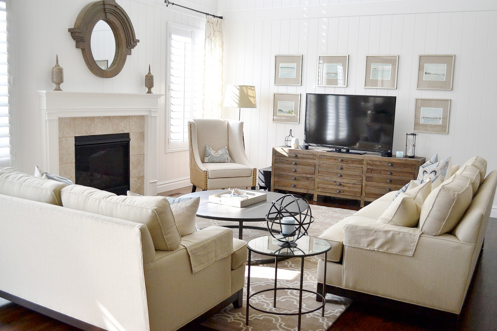 Coastal Living Room Look 4 Less - Sita Montgomery Interiors