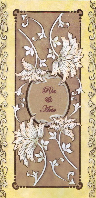 Kartu undangan pernikahan - MA1502 - Gallery Undangan Ananda