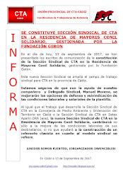 SE CONSTITUYE SECCIÓN SINDICAL DE CTA EN LA RESIDENCIA DE MAYORES CONIL SOLIDARIO, GESTIONADA POR L