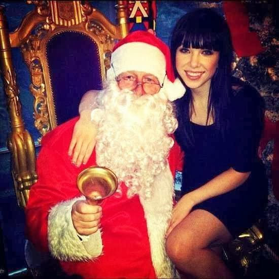 Celebrities Sitting on Santa's Lap