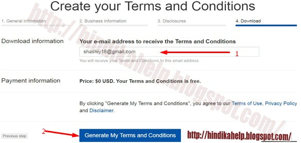 download terms and condition