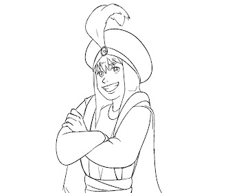#7 Aladdin Coloring Page