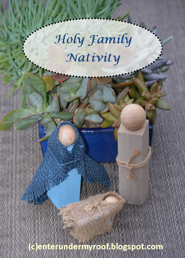 DIY Holy Family Nativity Craft Project - Easy to Make at Home