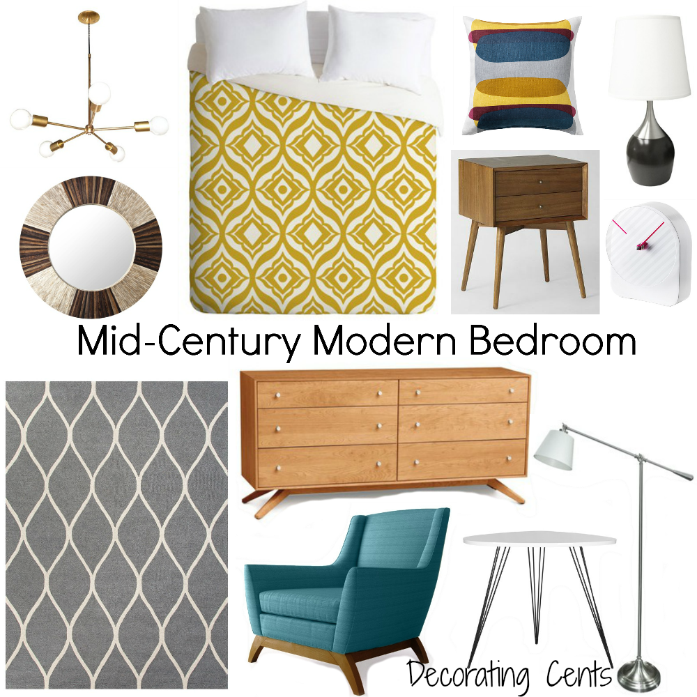 decorating cents: mid-century modern bedroom