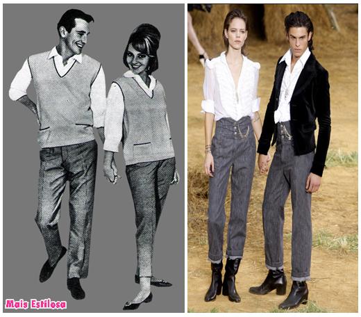 moda unissex anos 60