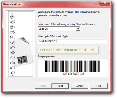Format barcode