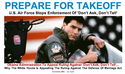 tom cruise: posterboy for don't ask, don't tell headline