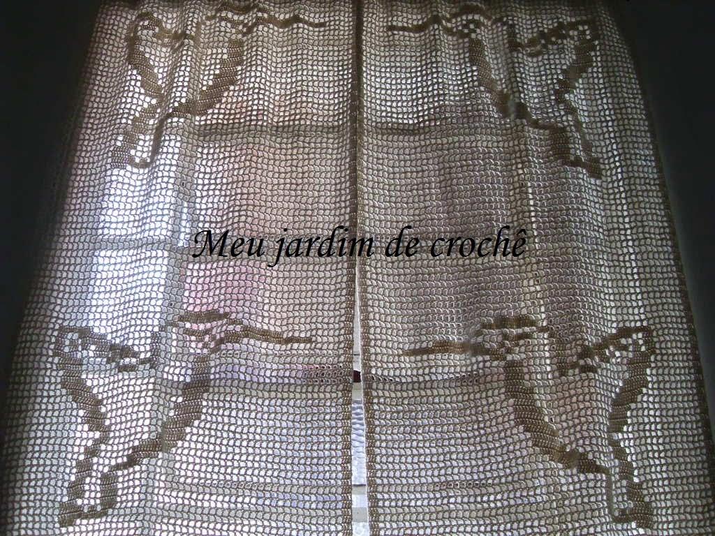 Meu Jardim De Croch Cortinas Em Croch