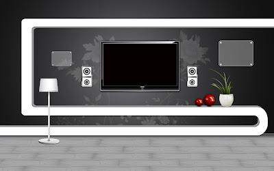 Black White home theater Furniture And Interior Arts Designs