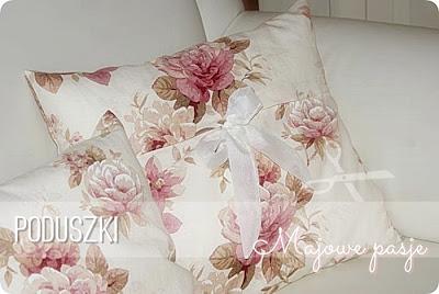 Poduszki z różami i peoniami