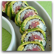 Avocado Topped Sushi Recipe and Instructions