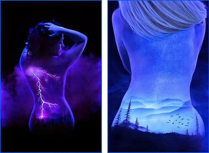 05-John-Poppleton-Black-Light-Bodyscapes-Body-Painting-www-designstack-co