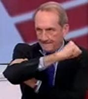 Gérard Longuet bras d'honneur