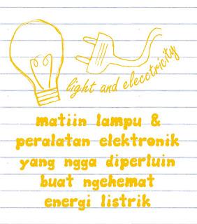 Poster Hemat Energi Listrik Matikan lampu tidak terpakai
