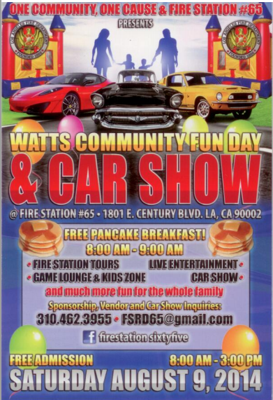 Watts Community Fun Day and Car Show event flyer