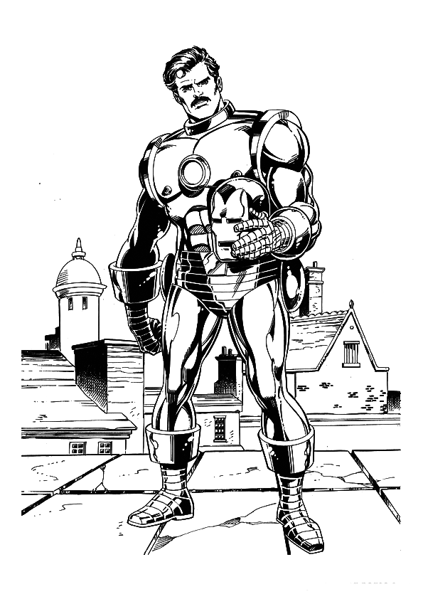 Free coloring pages of tony stark iron man for Tony stark coloring pages