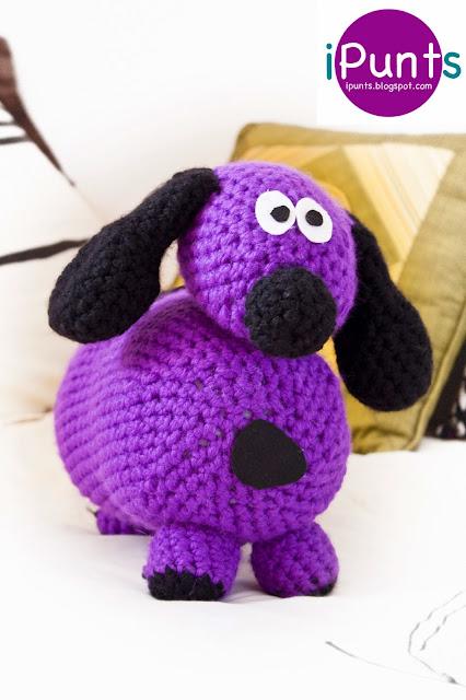 Perrito Puppy. Amigurumi de crochet. Patrón gratis de iPunts: agujas y ganchillo.