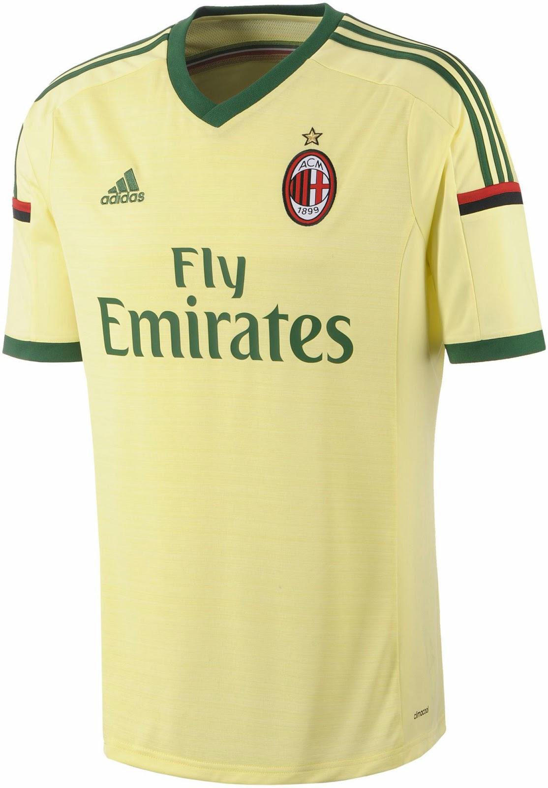 Milan 14 15 home away and third kits footy headlines