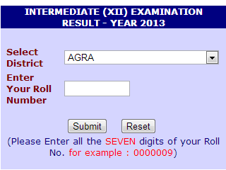 UP Intermediate Education Results 2013