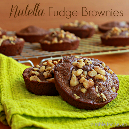 Nutella Fudge Brownies • Table for Seven