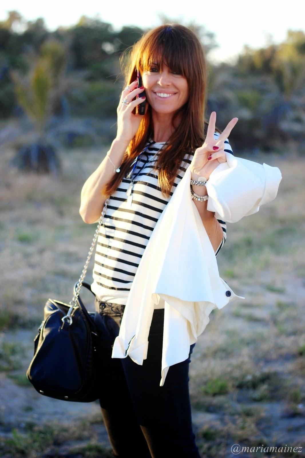 bucketfeet - blanco y negro outfit - fashion blogger - blazer blanca