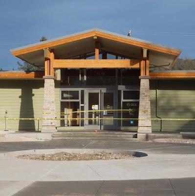 Main entrance, new Middletown Public Library in Middletown, Calif.