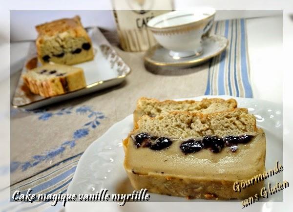 gourmande sans gluten cake magique vanille myrtilles sans gluten et sans lactose. Black Bedroom Furniture Sets. Home Design Ideas