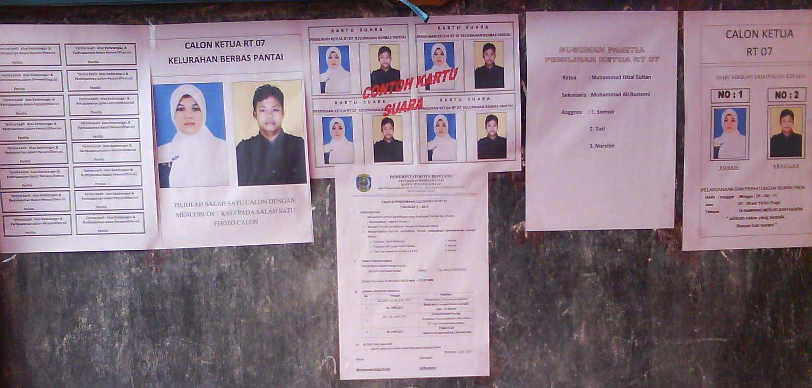 pemilihan ketua rt 07 megah tempat pemilihan ketua rt 07 menggunakan